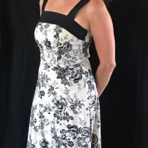 Black and White Floral Summer Sundress